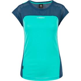 La Sportiva Traction - Camiseta manga corta Mujer - azul/Turquesa